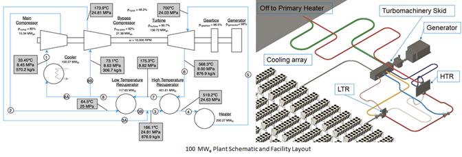 100 MWe Plant Schematic and Facility Layout
